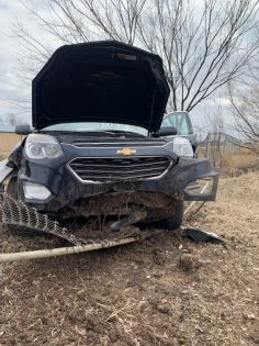 One injured in Newkirk accident