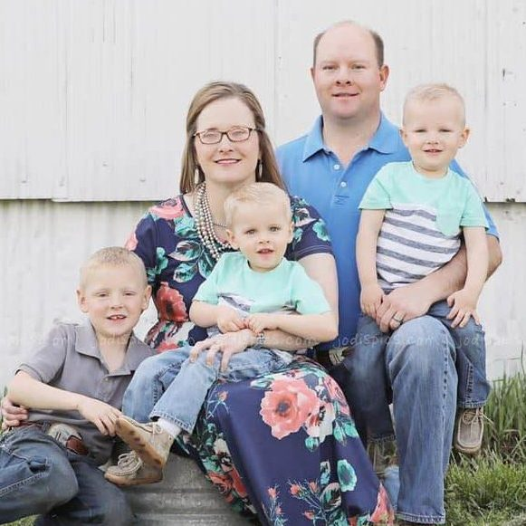 Jason Shanks and his family