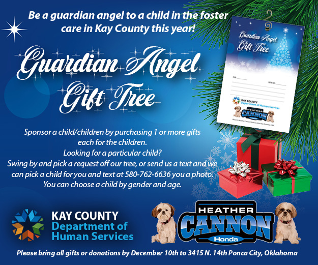 Heather Cannon Honda: Be a guardian angel to a child in foster care in Kay County.